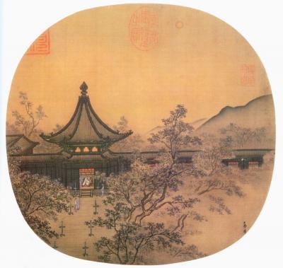 Chinesische Seidenmalerei, ca. 1250