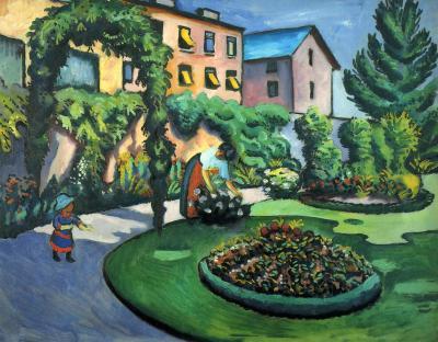 """August Macke, """"Gartenbild"""", 1911"""