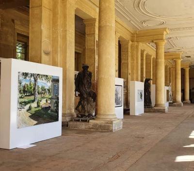 Impressionen aus der östlichen Pflanzenhalle im Orangerieschloss, Park Sanssouci (Copyright Installationsaufnahme/ Galerie Kornfeld)
