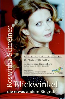 """Plakat Buchlesung """"Blickwinkel"""""""