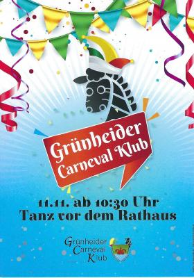 Flyer Grünheider Carneval Klub
