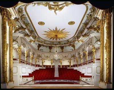 Das Schlosstheater im Neuen Palais, Blick in den Zuschauerraum, Foto: Hans Bach, © SPSG