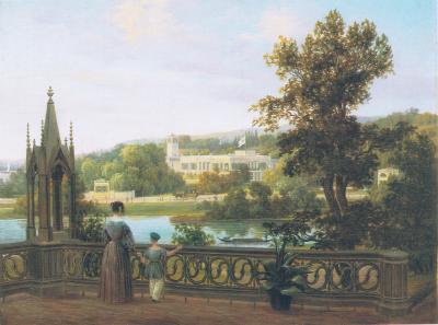 Schloss Glienicke vom Babelsberg, Carl Daniel Freydanck