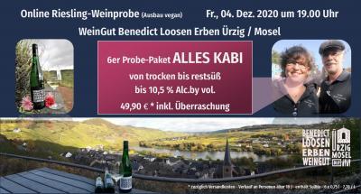 Online Weinprobe ALLES KABInett von trocken bis restsüß bis 10,5 % Alc.by vol.