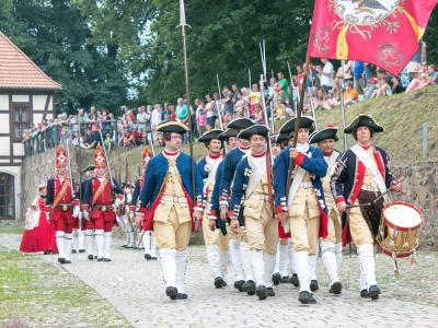 Festungsspektakel in Sachsens Festung in Brandenburg  Foto: Museum OSL