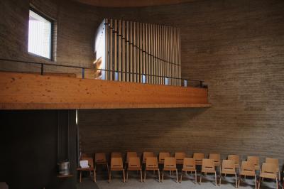 Schuke-Orgel in der Kapelle der Versöhnung. Foto: Johann Subklew