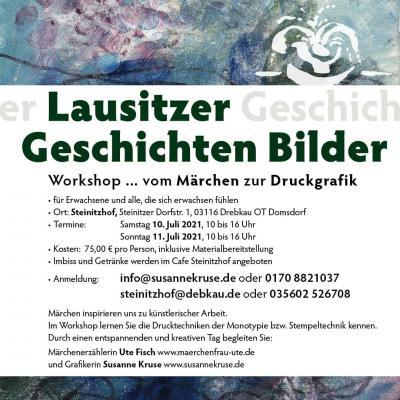 Flyer Lausitzer Geschichten Bilder