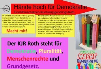 Hände hoch für Demokratie