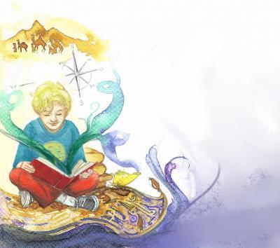 """Illustration zu """"Jin und die magische Melone"""""""