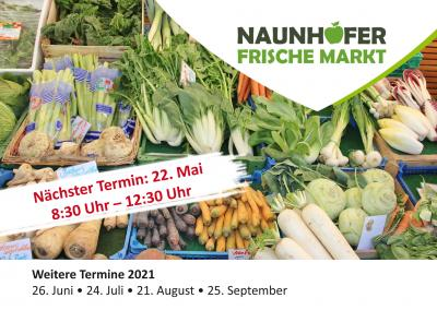Nächster Termin für den Naunhofer Frischemarkt: 22. Mai