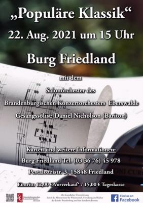"""Plakat für das Konzert """"Populäre Klassik"""""""