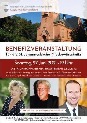 Musikalische Lesung mit Maria von Bismarck, Eberhard Görner und Matthias Grünert
