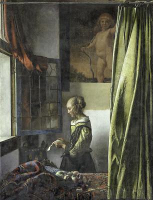 """Jan Vermeer, """"Briefleserin am offenen Fenster"""" © SKD, Foto Wolfgang Kreische"""