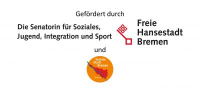gefördert durch die Senatorin für Soziales, Jugend, Integration und Sport der Freien Hansestadt Bremen und WiN (Wohnen in Nachbarschaften)